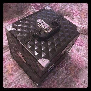 Black makeup box